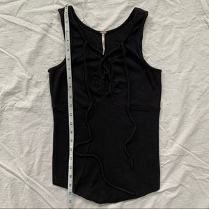 Free People • lace up tank top